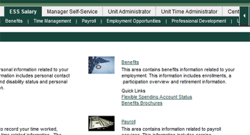 ESS Benefits Screen