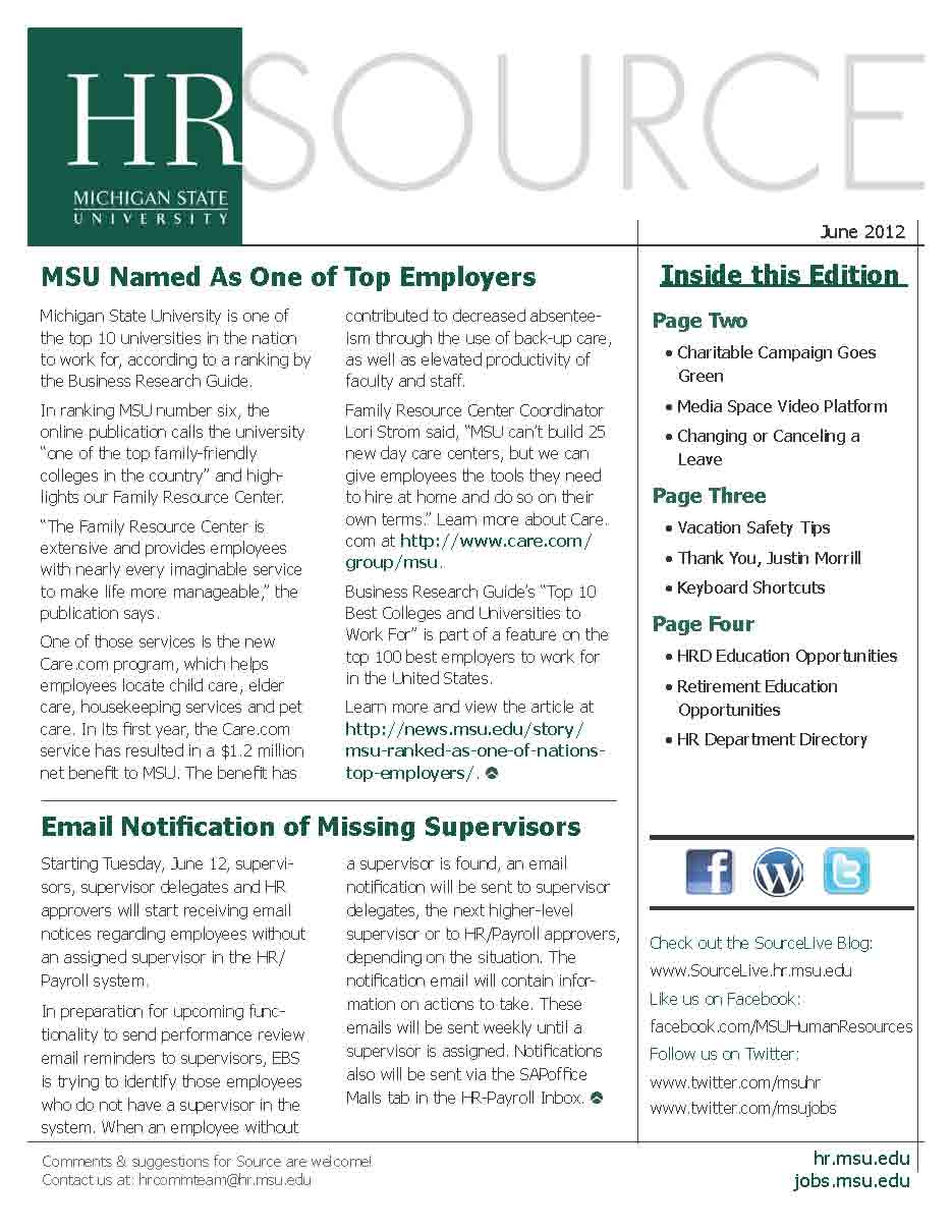 Source Newsletter Cover
