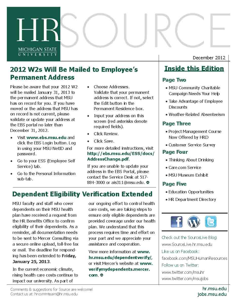 December E-newsletter Cover