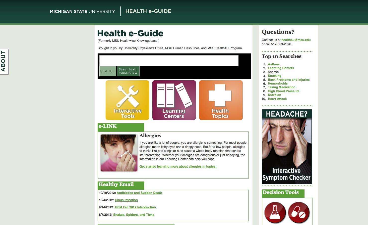 MSU Health Website