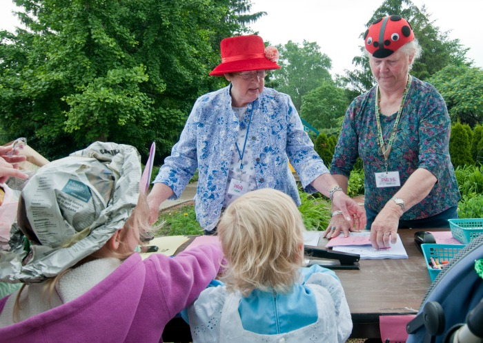 Volunteers at garden event at MSU