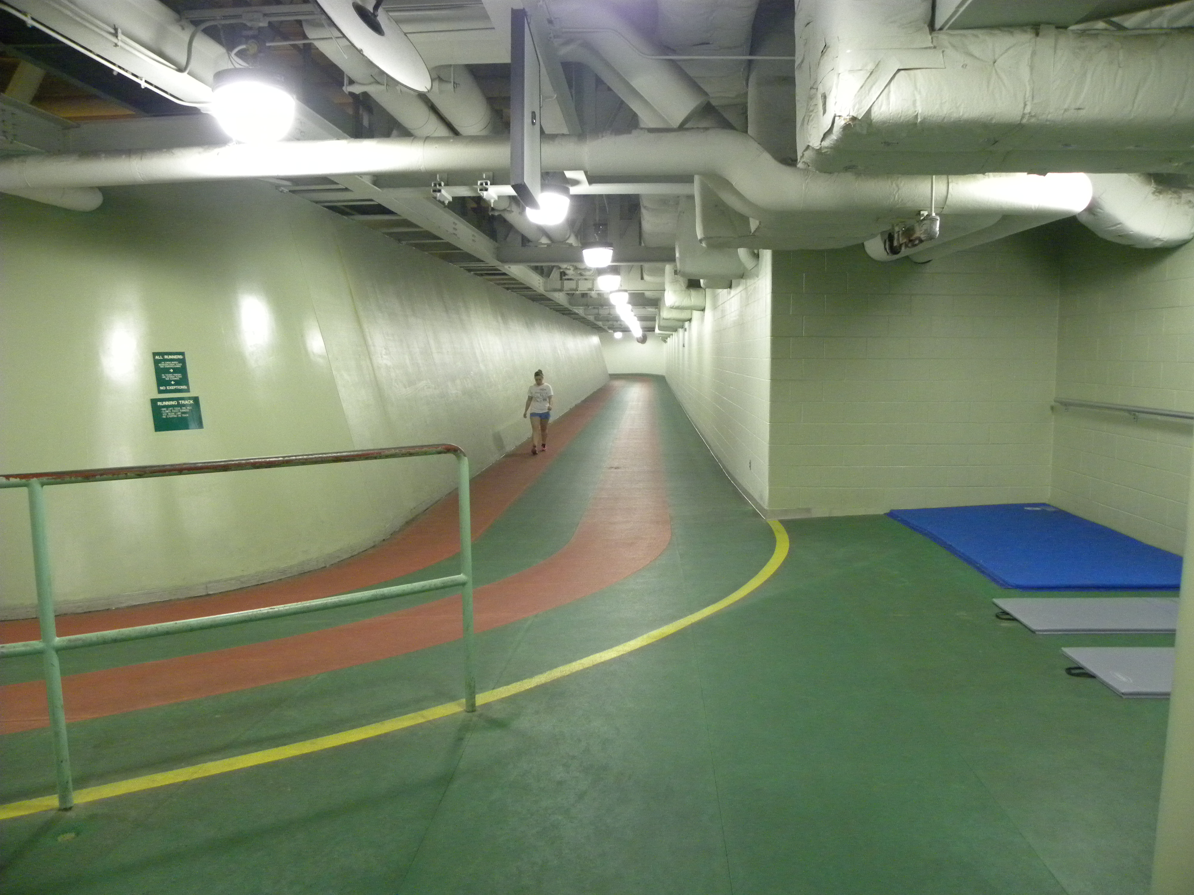 IM East offers a variety of outlets for exercising, including an indoor track.