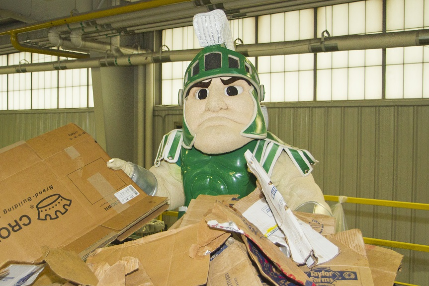 Sparty will be recycling for America Recycles Day- will you?