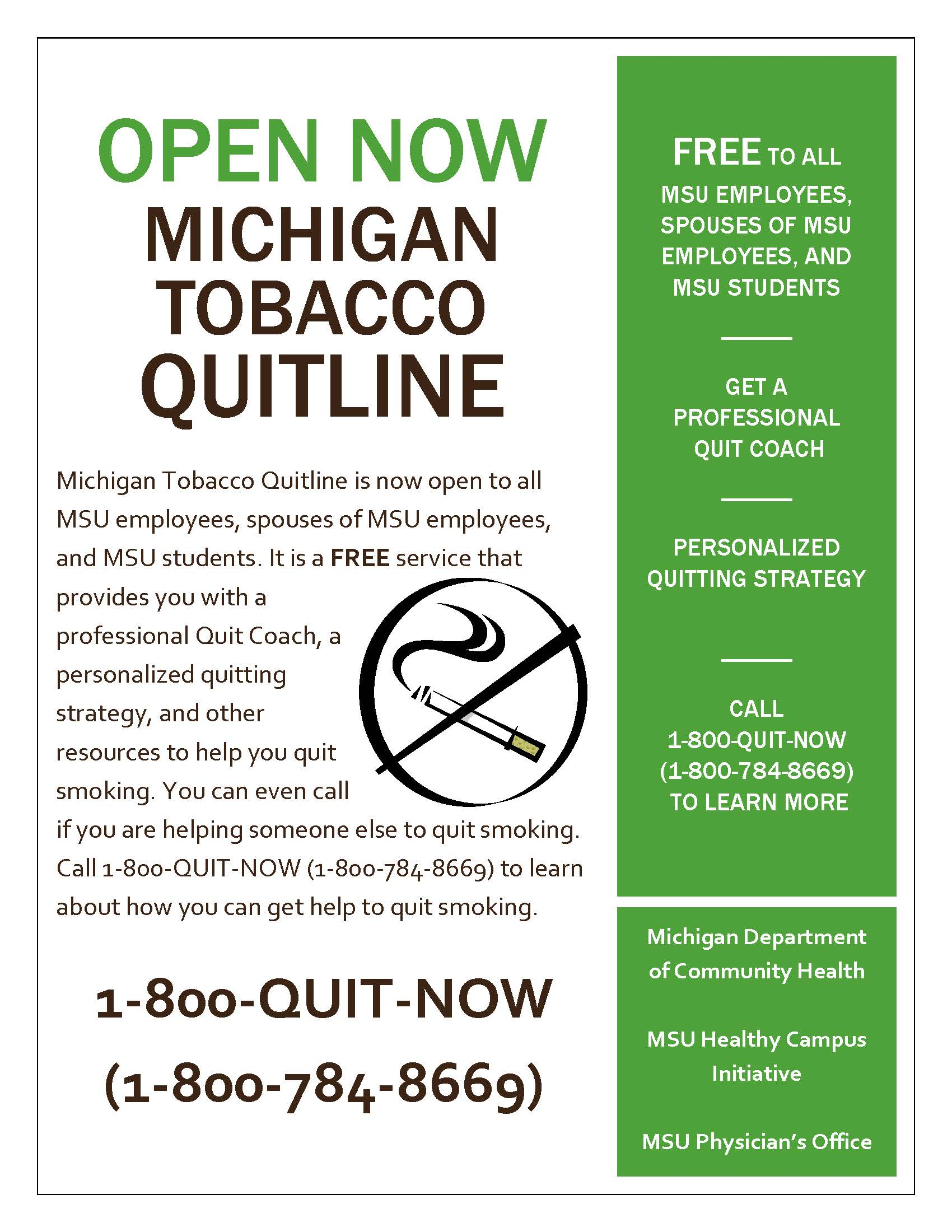 Tobacco Quitline Flyer