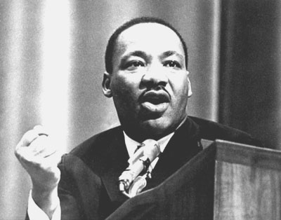 Martin Luther King Jr. speaks at Michigan State University