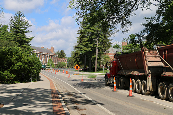 West Circle Drive construction