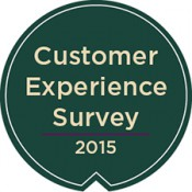 customer experience survey graphic in sheild